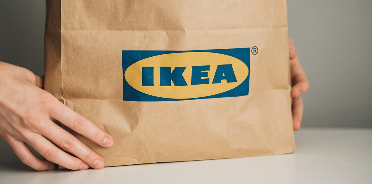 Ikea green packaging example that shows its sustainable brand campaign