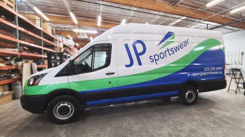 JP Sportswear truck wrap