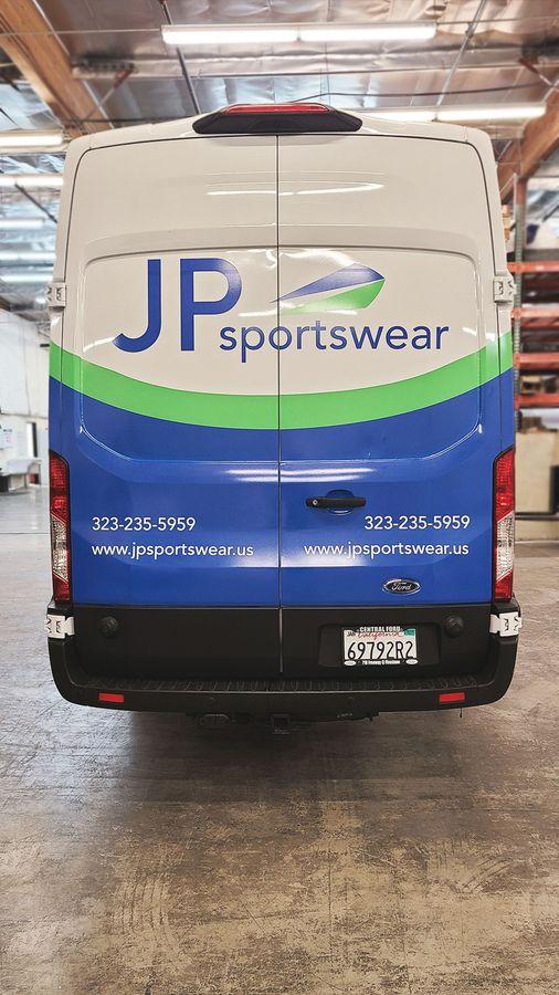 JP Sportswear van wrap