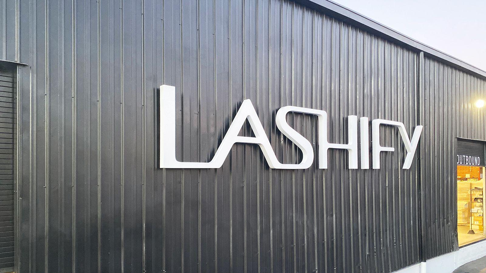 Lashify large channel letters