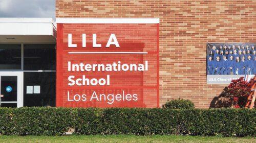 Lila school 3D letters