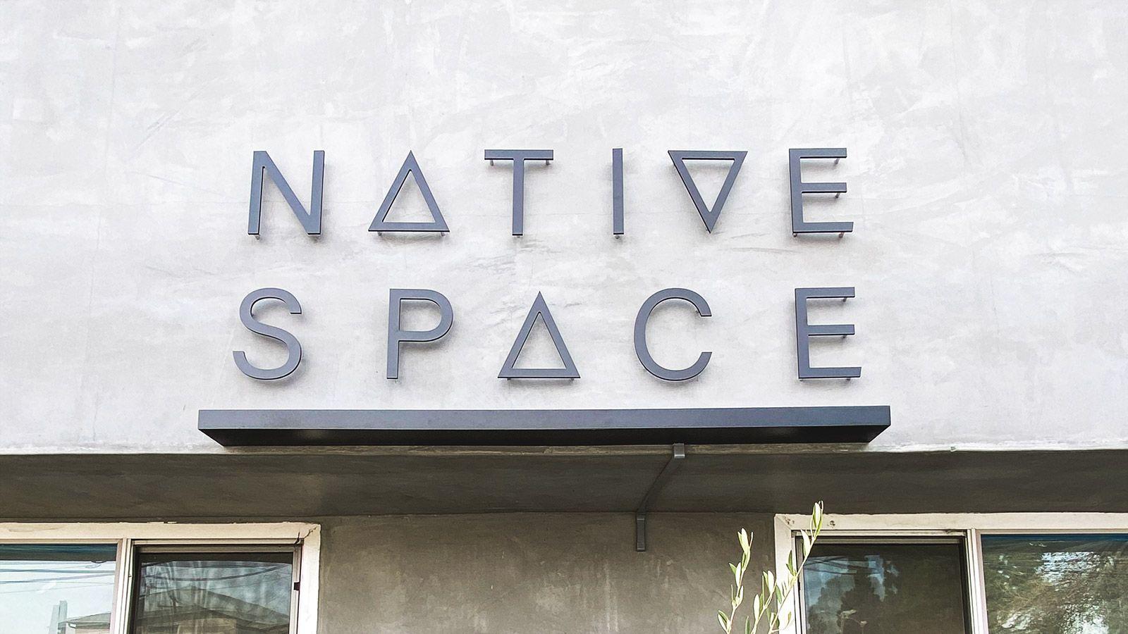 Native Space aluminum 3D letters