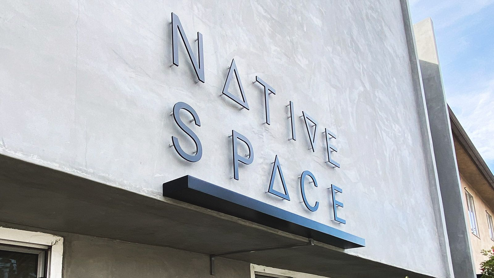 Native Space backlit letters