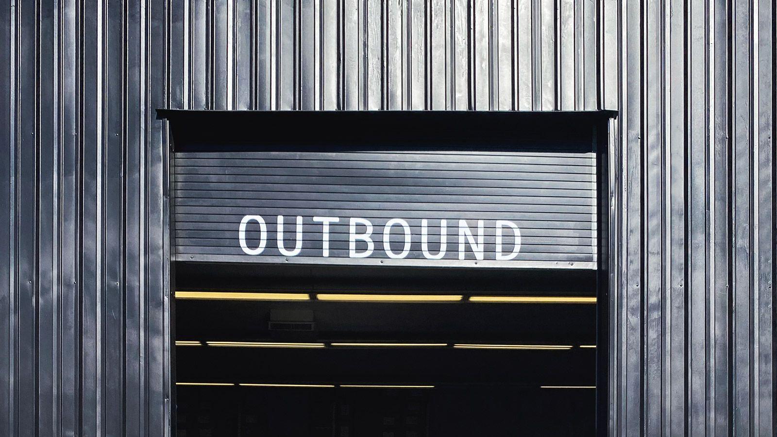 Outbound vinyl lettering