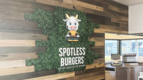 Spotless burgers 3D letters