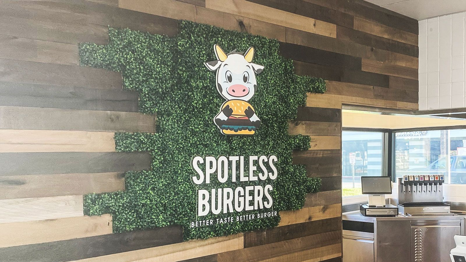 Spotless burgers 3D letters