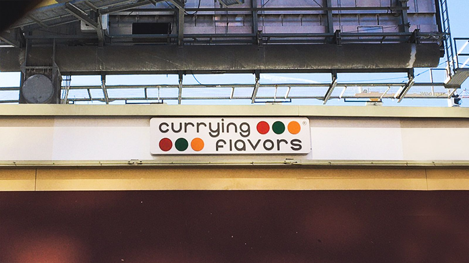 currying flavors illuminated sign