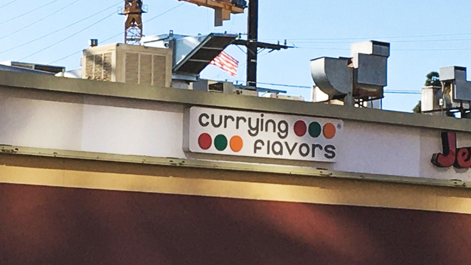 currying flavors light up sign