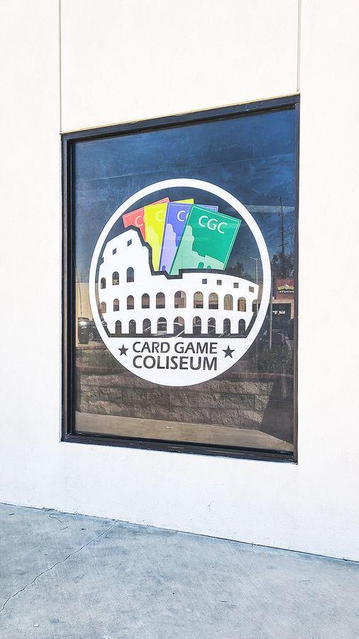 Card Game Coliseum window sticker