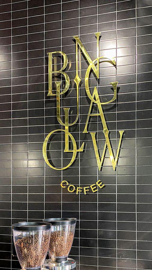 bungalow coffee aluminum sign
