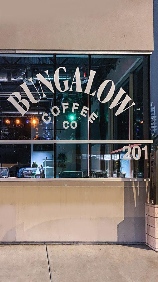 bungalow coffee vinyl lettering