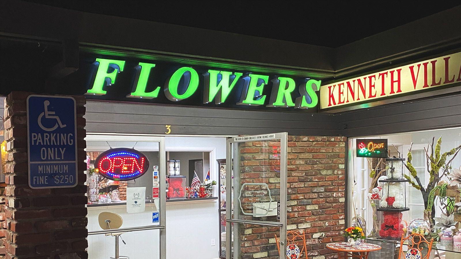 flowers channel letters