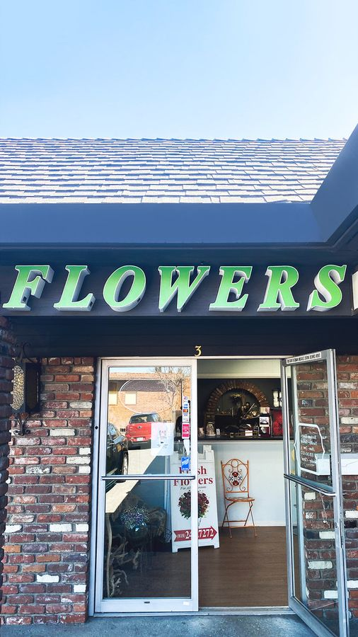 flowers storefront channel letters