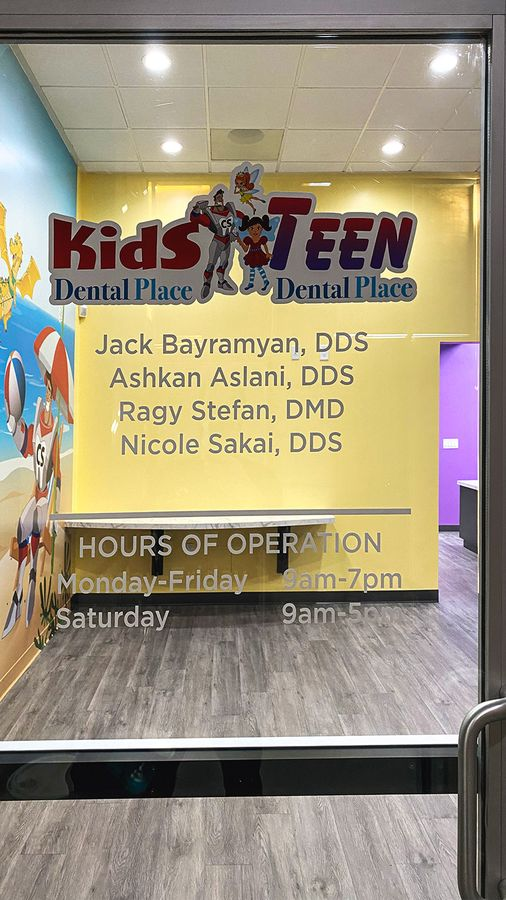 kids dental place decals