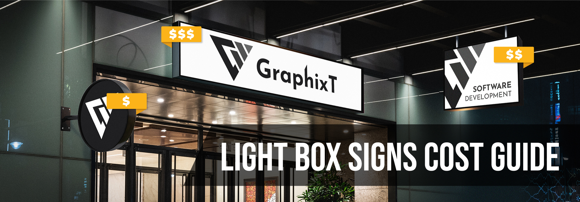 light box sign price guide