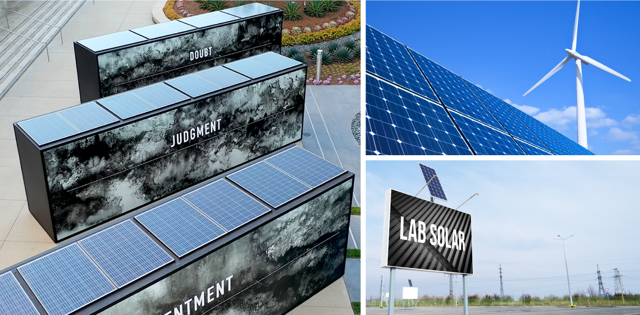 Solar energy sign solutions for making your company green