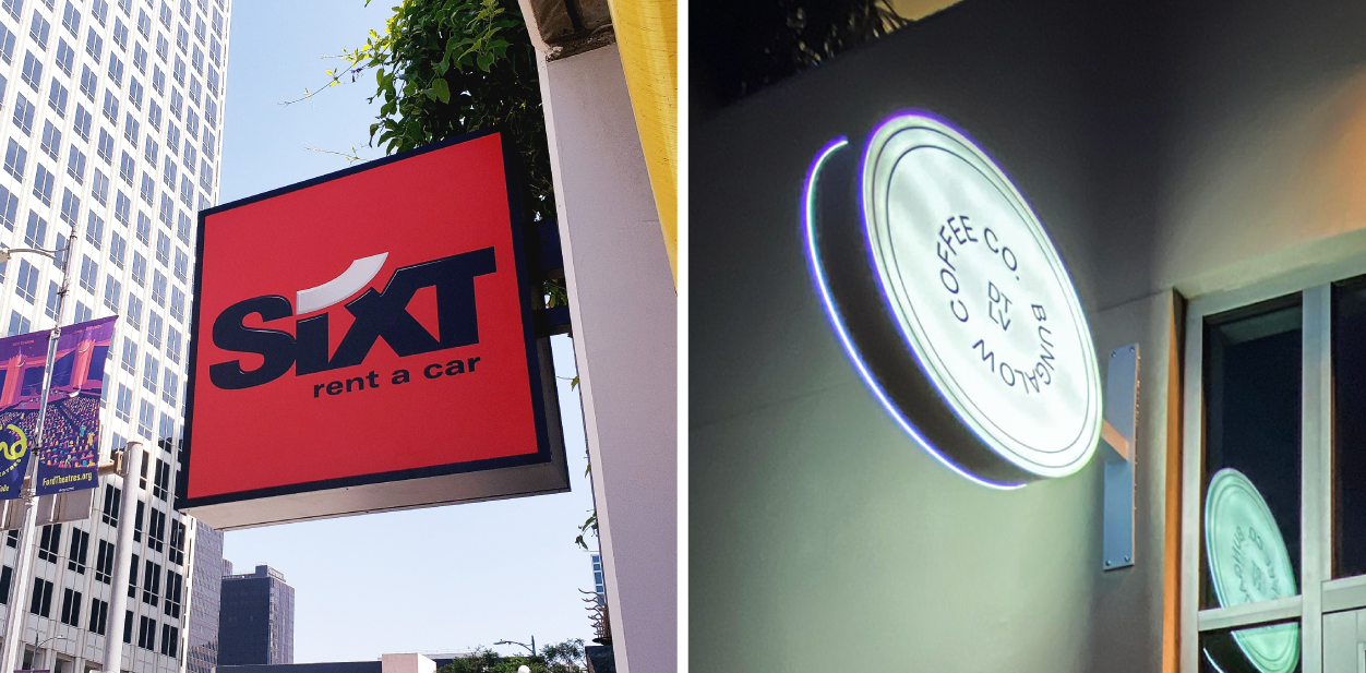 Displaying how side quantity affects light box sign price with two-sided signage examples