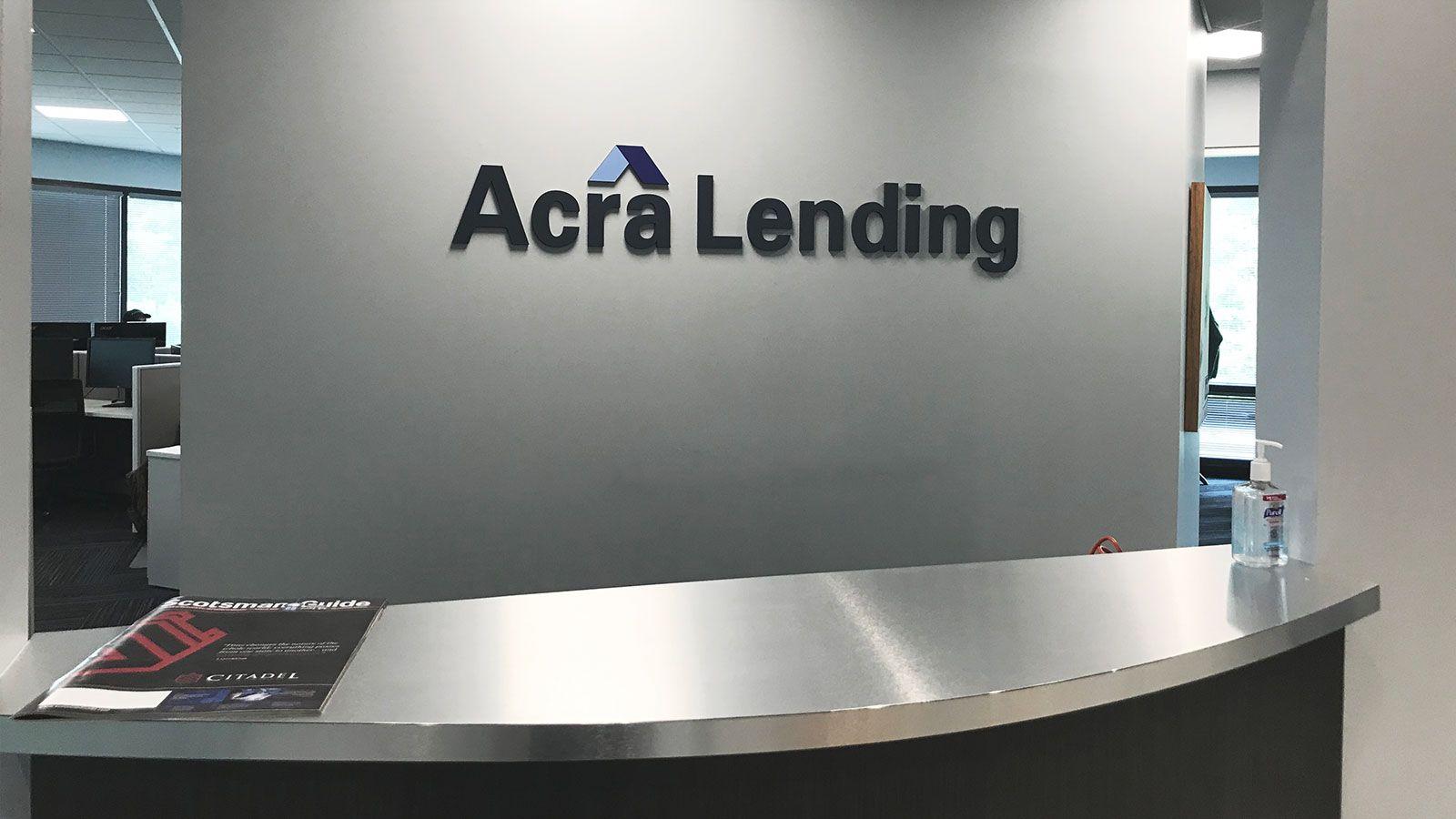 Acra Lending 3d letters