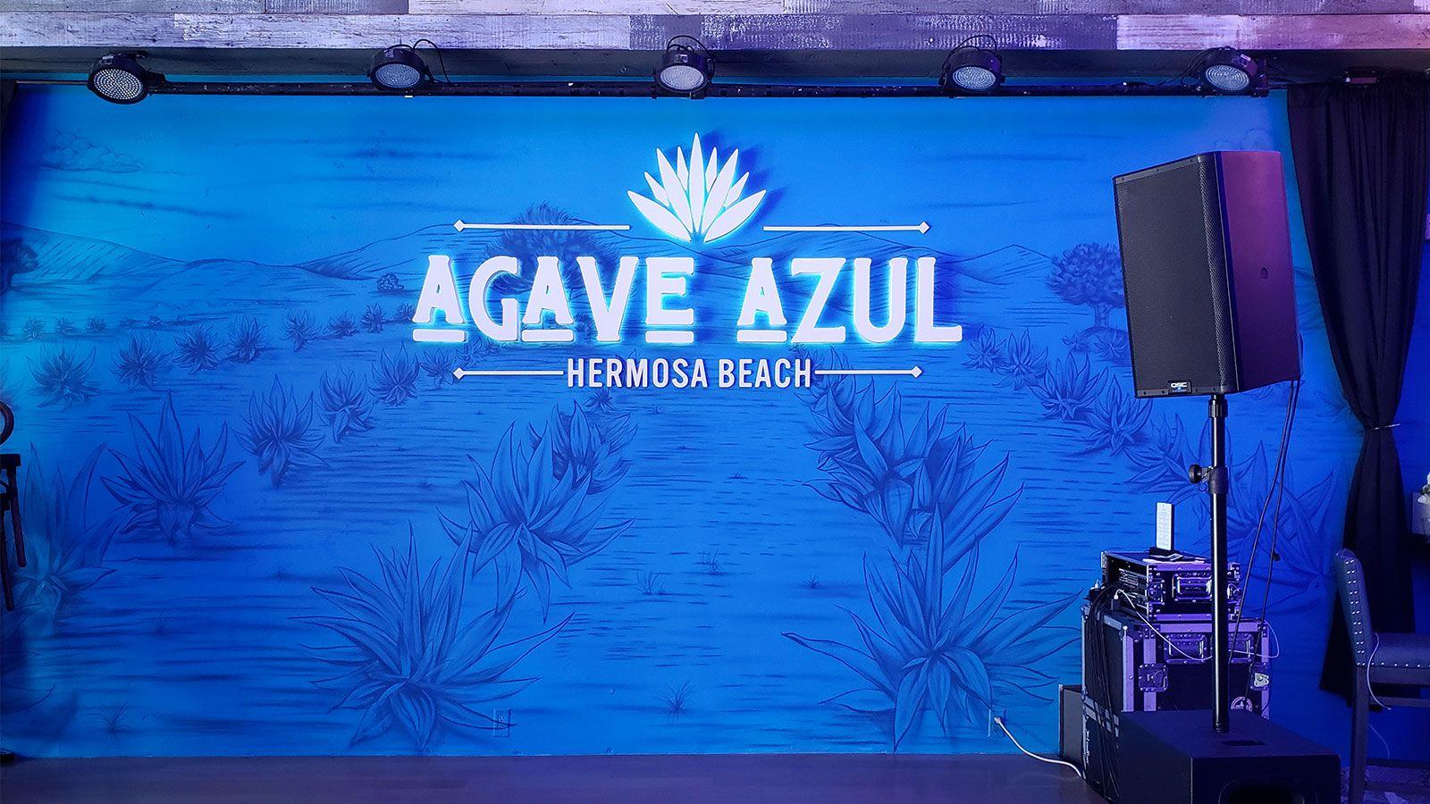 Agave Azul backlit sign