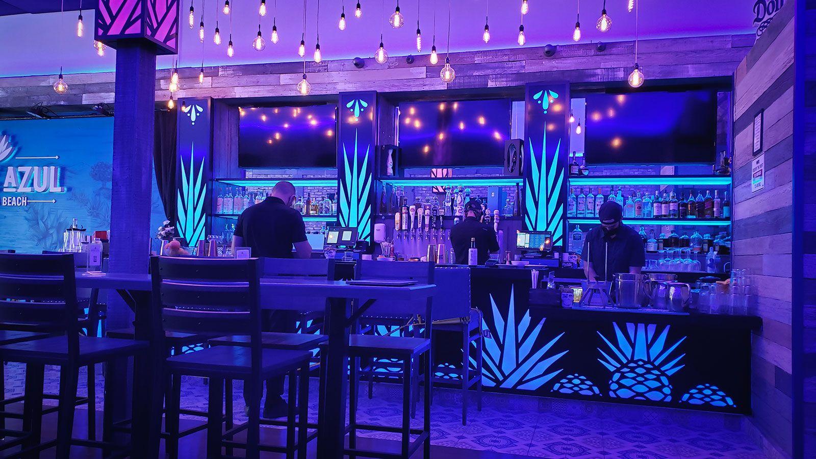 Agave Azul bar illuminated signs