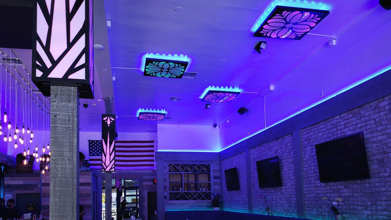 Agave Azul custom lightboxes