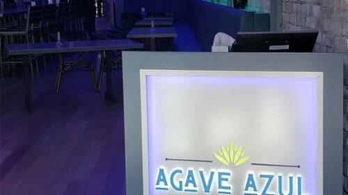 Agave Azul front desk sign