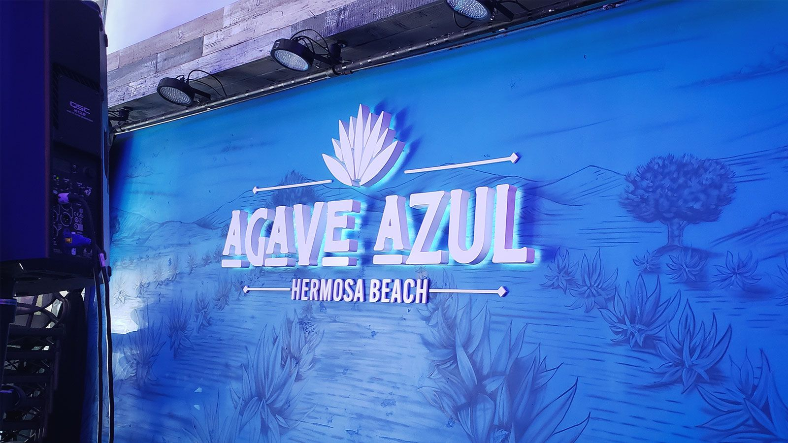 Agave Azul reverse lit sign