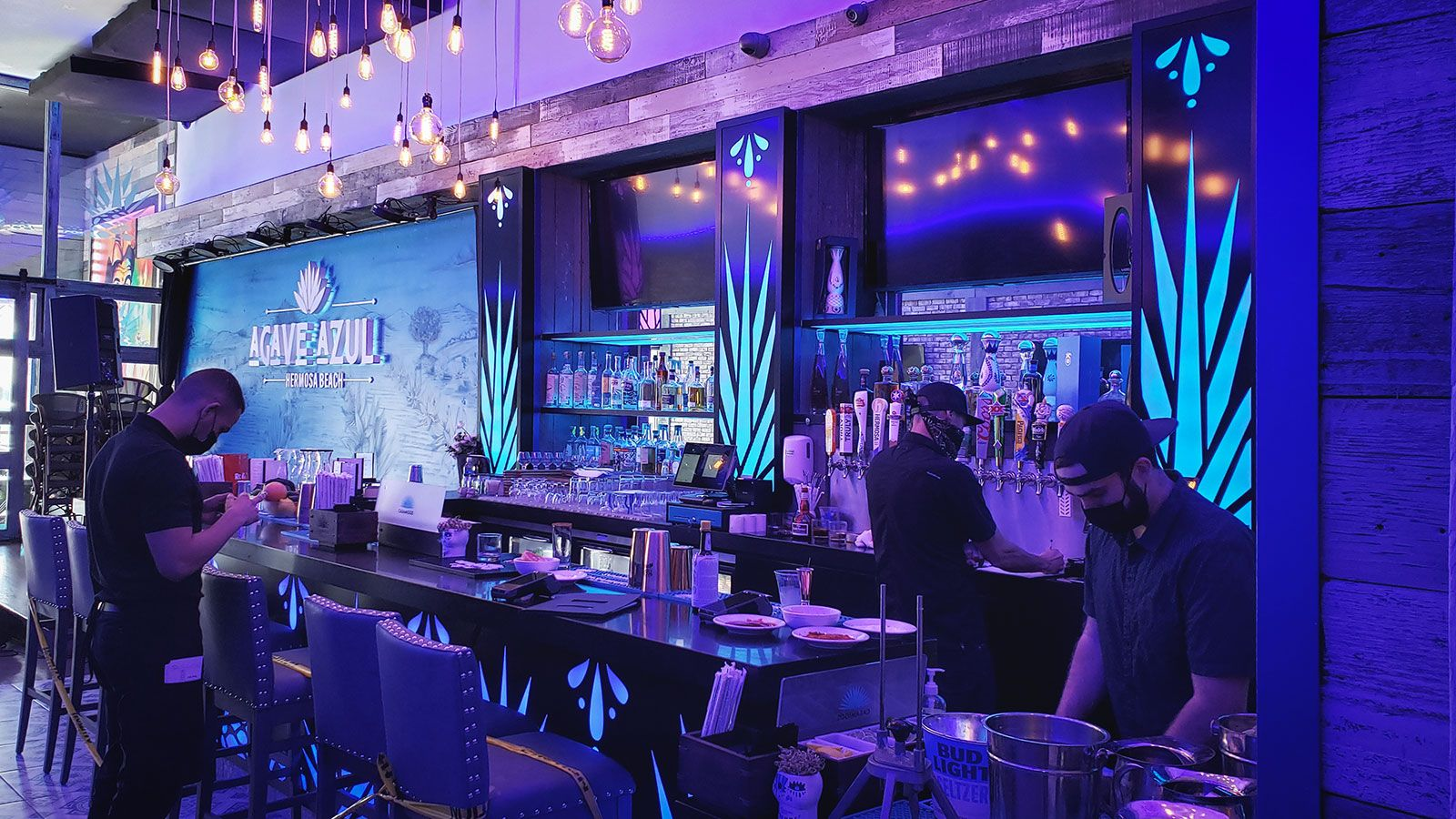 Agave azul custom LED signs