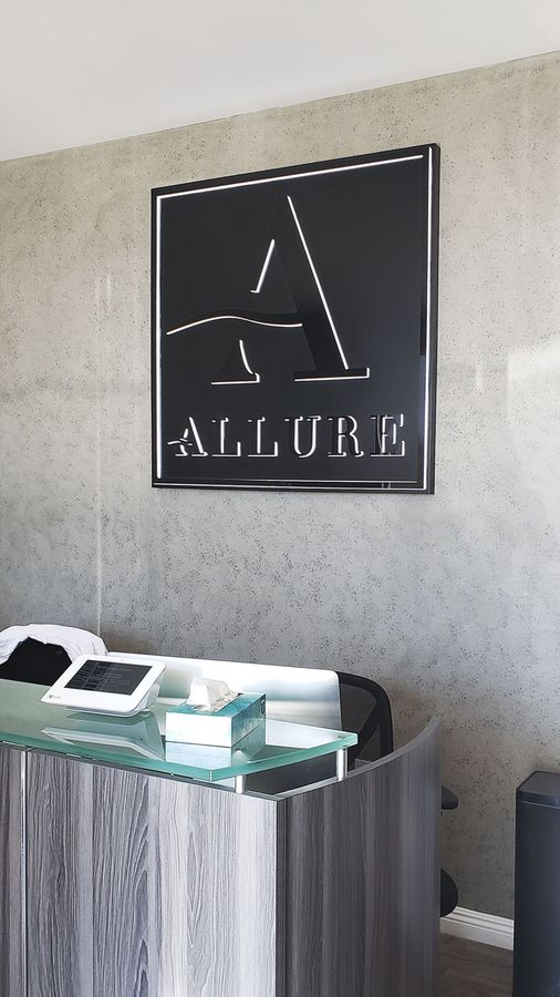Allure custom office sign