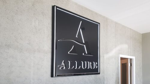 Allure illuminated office sign