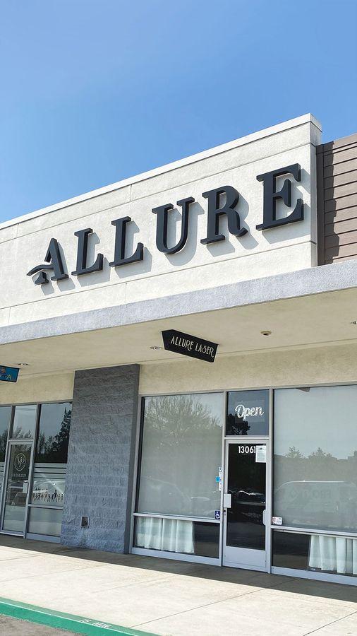 Allure laser backlit letters
