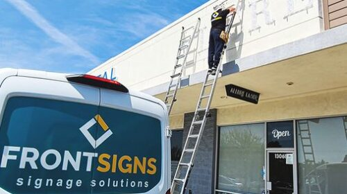 Allure laser sign installation