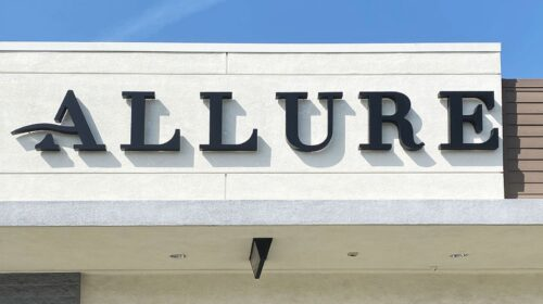 Allure laser store sign