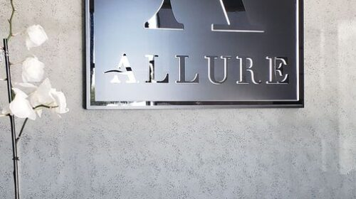 Allure push through sign