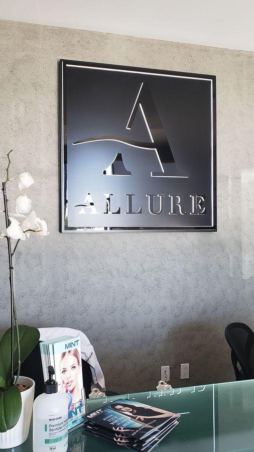 Allure push through sign