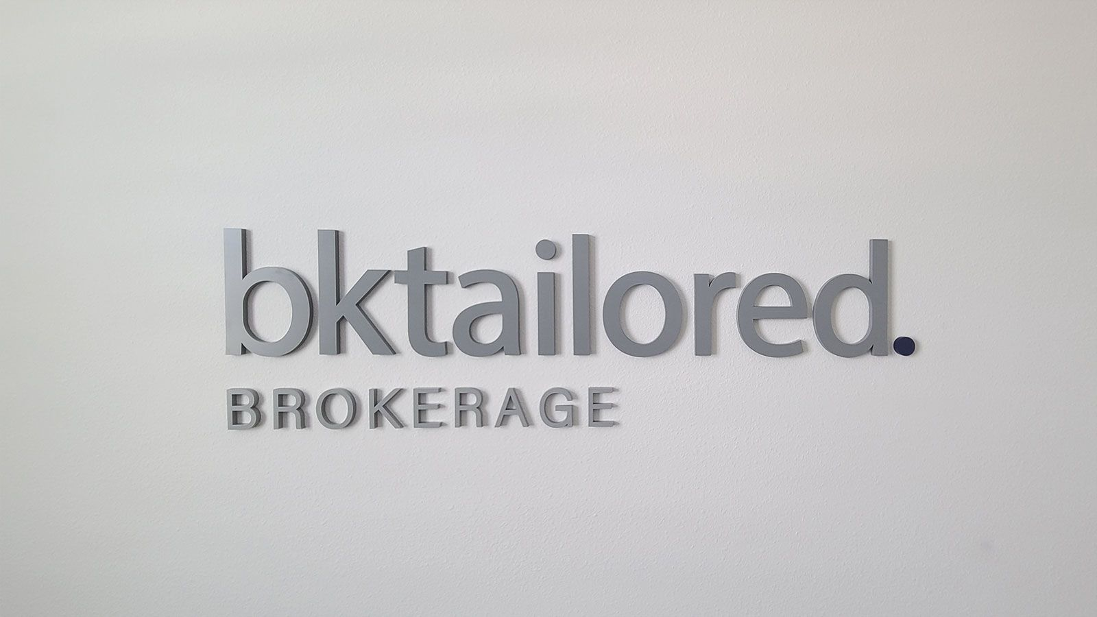 Bktailored acrylic 3D letters