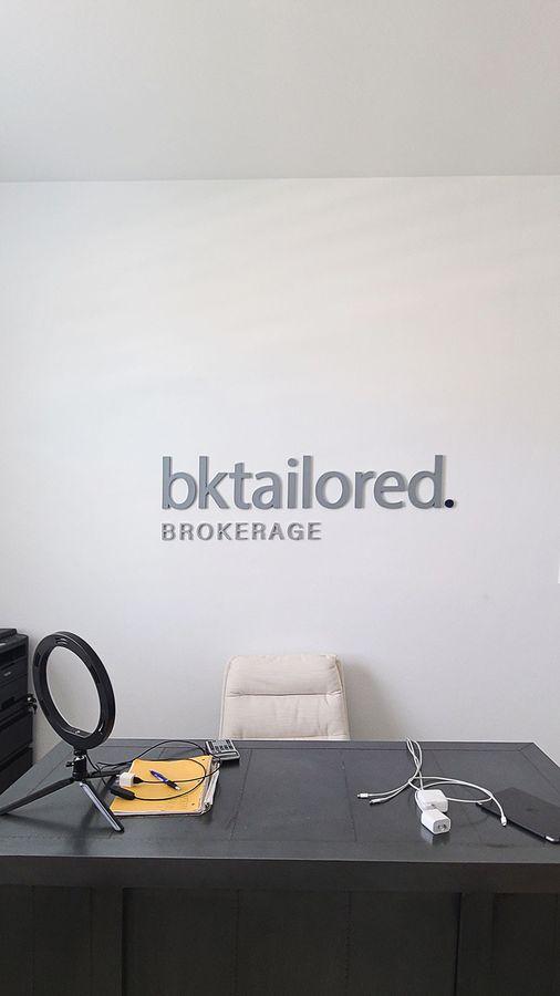 Bktailored interior 3D letters