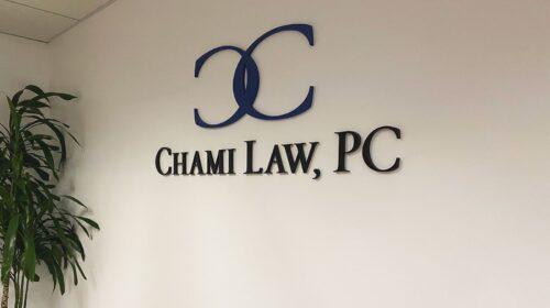 Chami Law 3D letters
