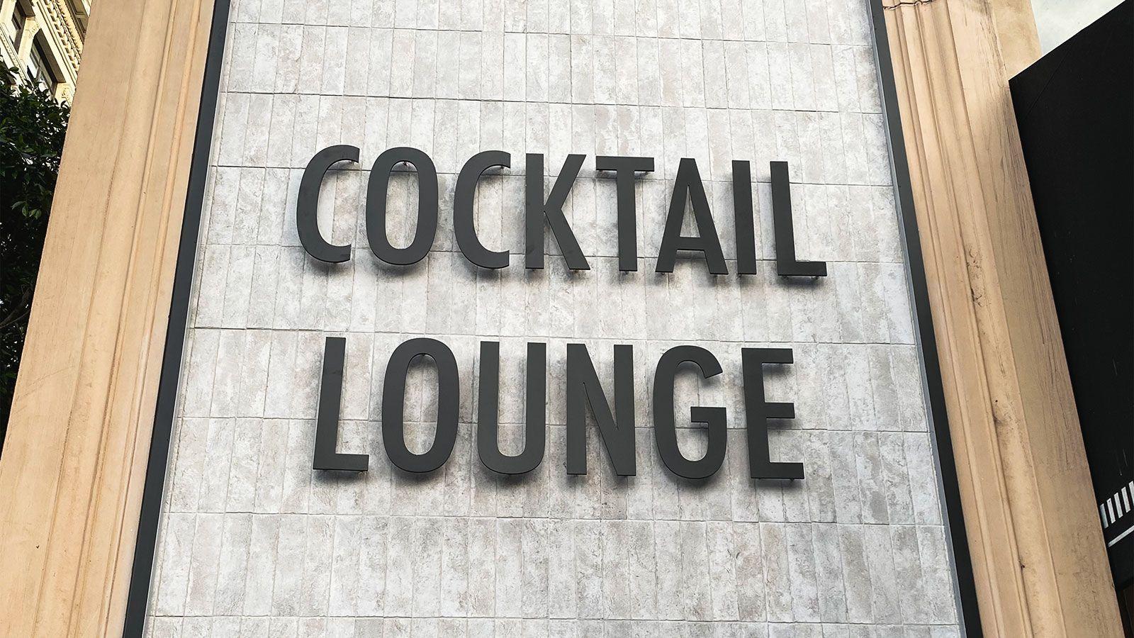Cocktail Lounge 3D letters
