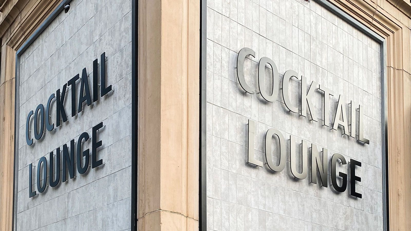 Cocktail Lounge Pin-mounted letters