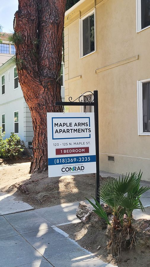 Conrad real estate yard sign