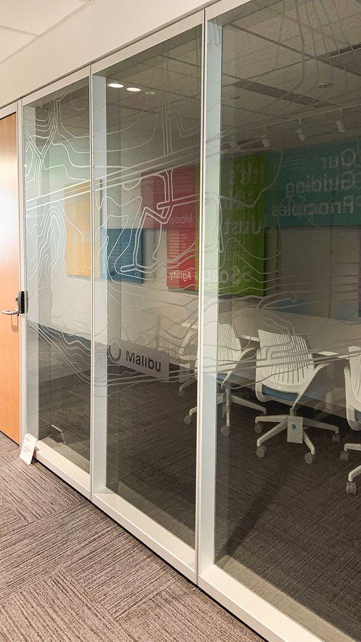 Custom office window stickers