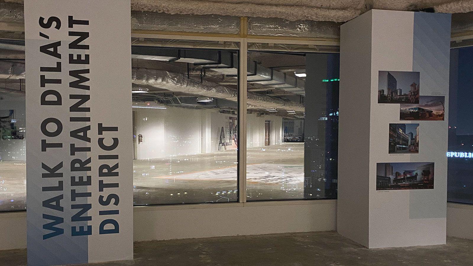 DTLA interior wall decals