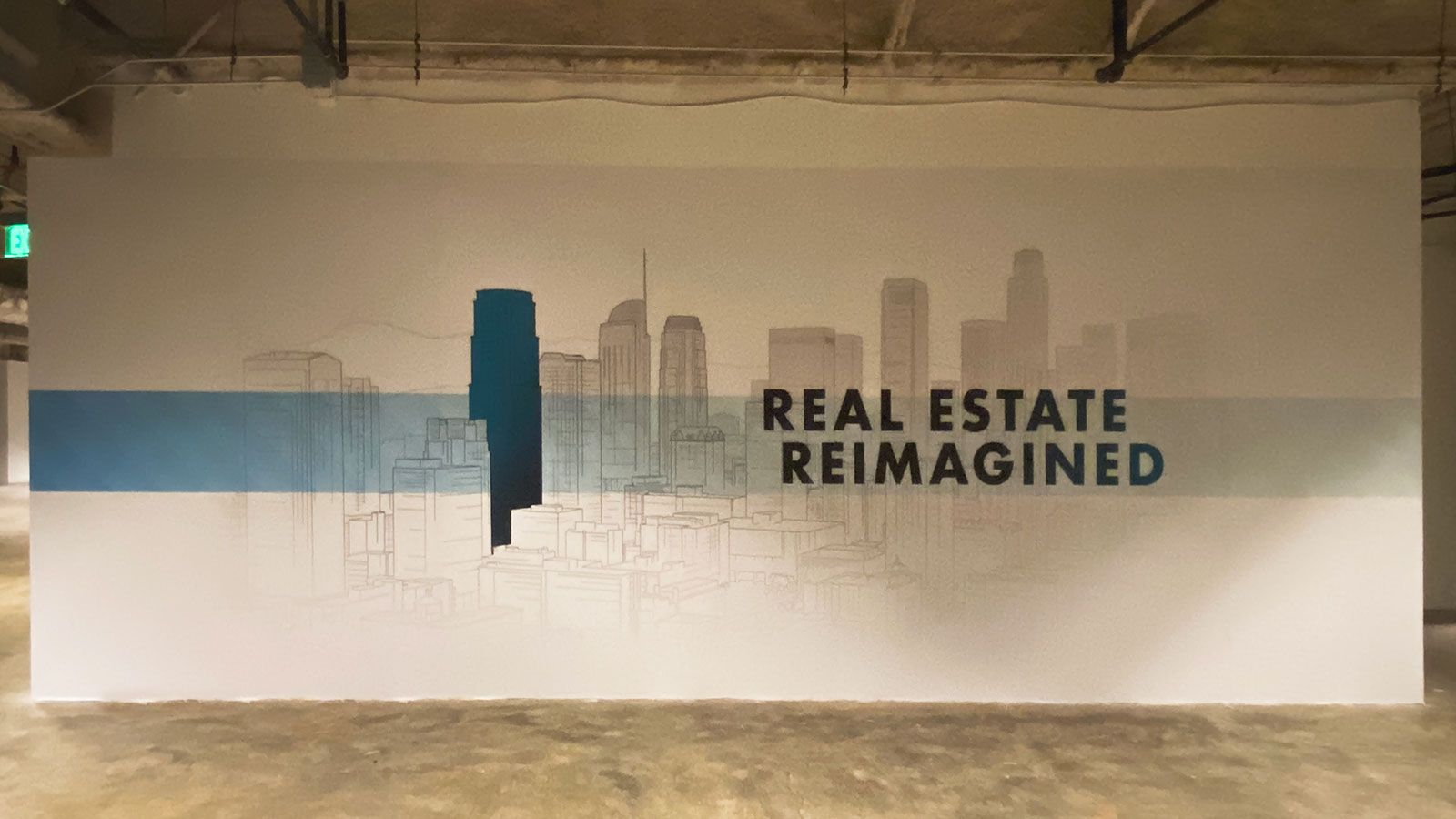 DTLA large wall decal