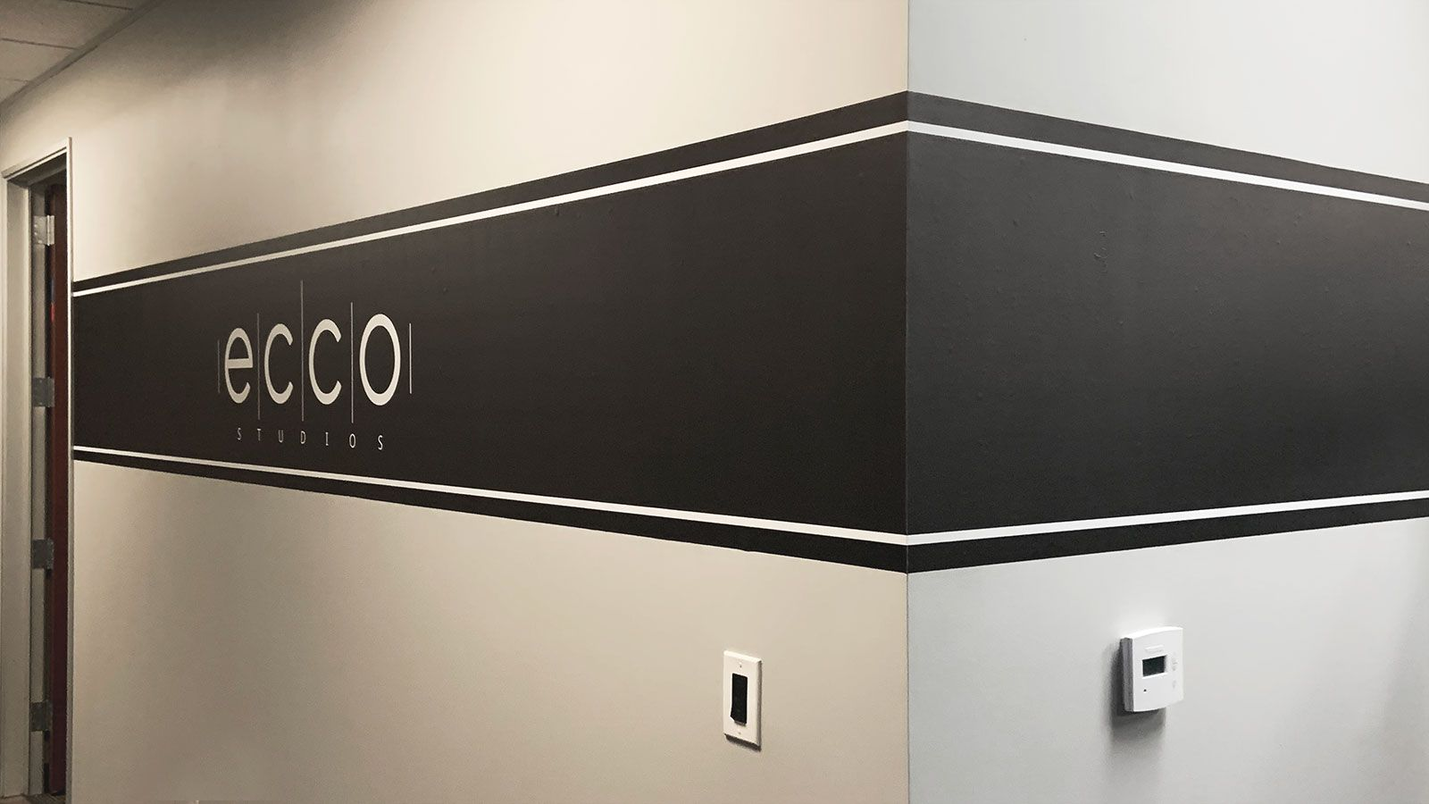 Ecco Studios office wall decal