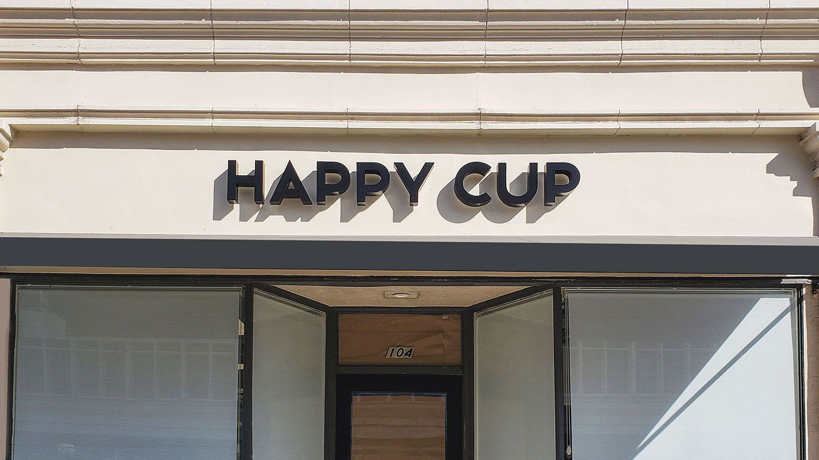 Happy cup 3D letters