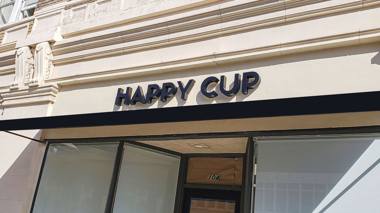 Happy cup channel letters