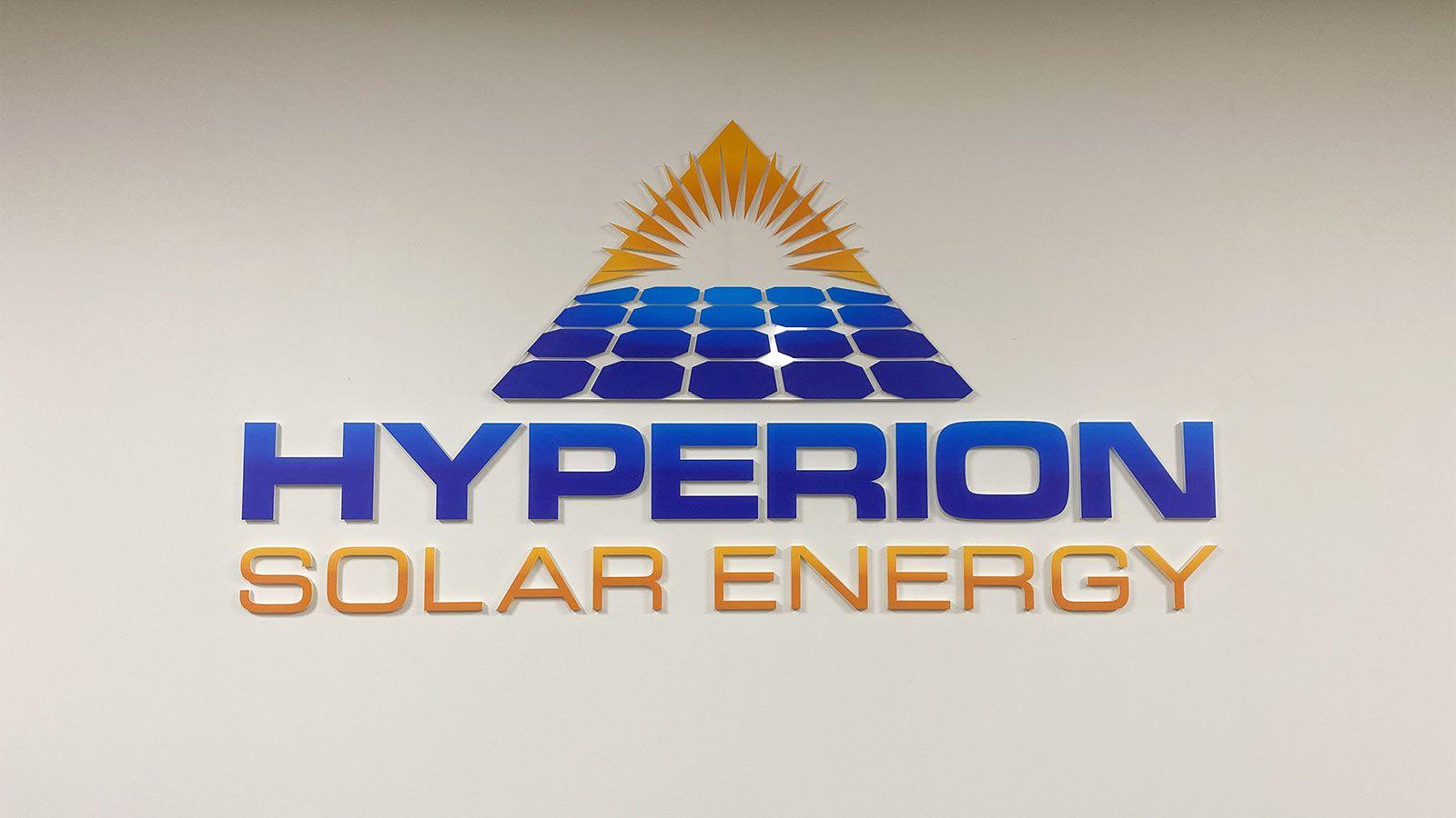 Hyperion 3D logo sign