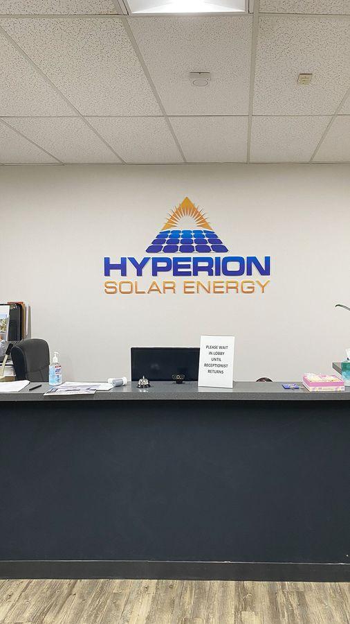 Hyperion reception 3D letters