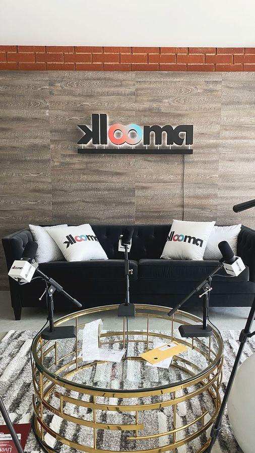 Klooma backlit logo sign